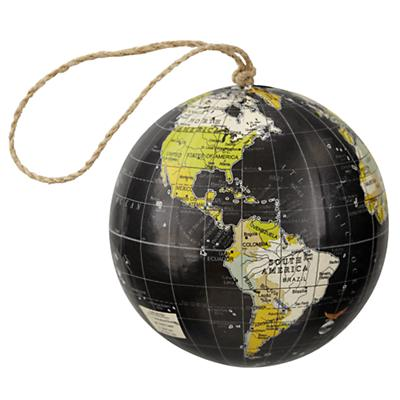 Black Globe Ornament