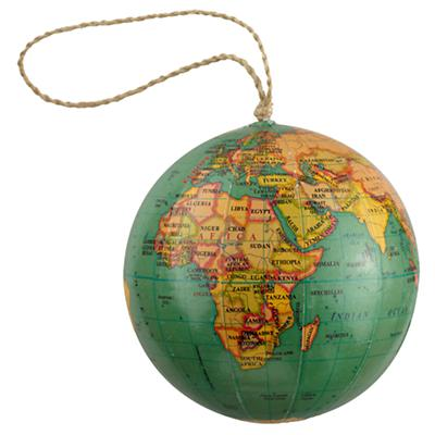 Green Globe Ornament