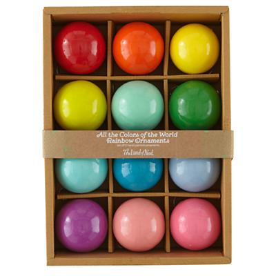 All the Colors of the Rainbow Ornaments (set of 12)