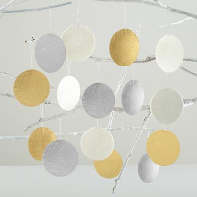 Dot, Dot, Dot Decor (Silver, Gold and White)