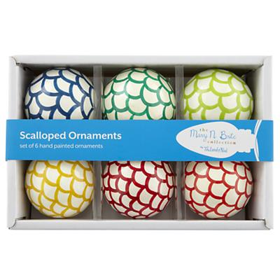 Scalloped Ornaments (Set of 6)