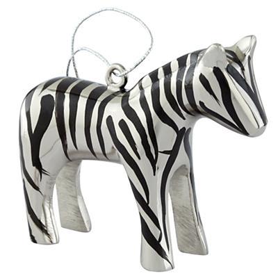 Metal Safari Ornament (Zebra)