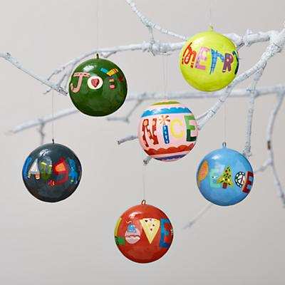 Season's Greetings Ornaments (Set of 6)
