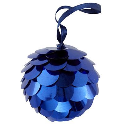 Dk. Blue Sequin Ornament