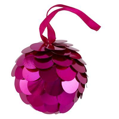 Pink Sequin Ornament