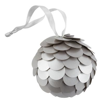 Silver Sequin Ornament