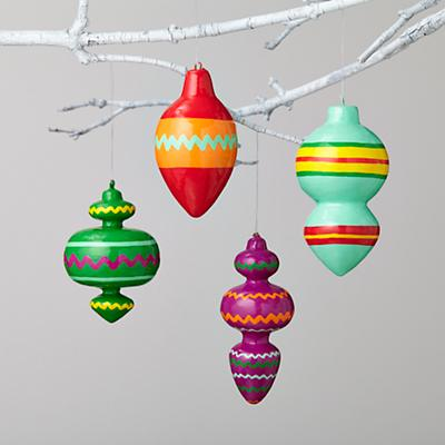 Vintage Patterned Ornaments