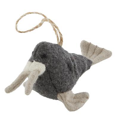 Winterland Plush Animal Ornament (Walrus)