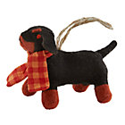 Daschund Woodland Prep Ornament