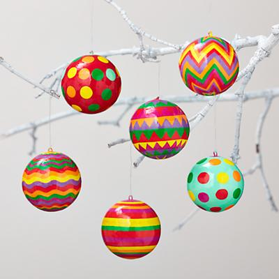 Neon Ball Ornament Set