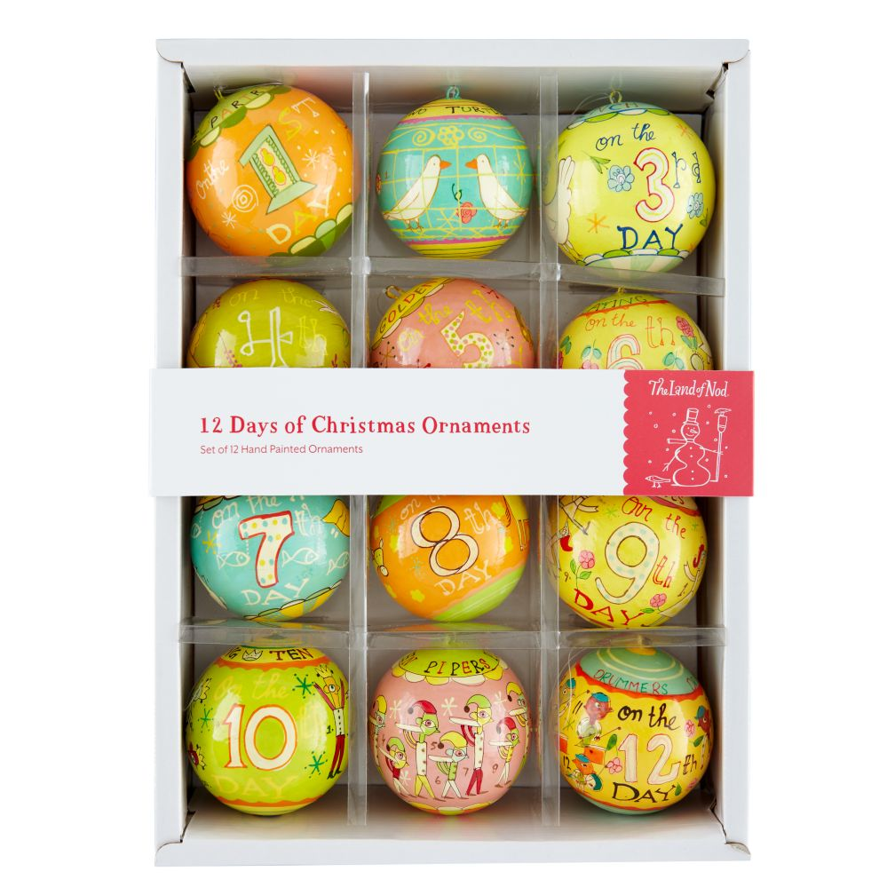 Box of Michael Marby Twelve Days of Christmas Ornaments Set