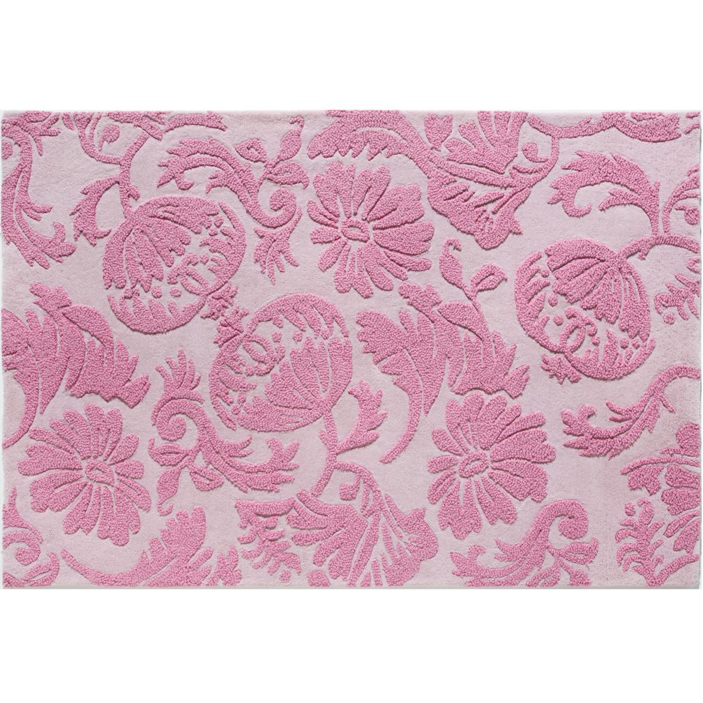 Raised Floral Rug (Pink)
