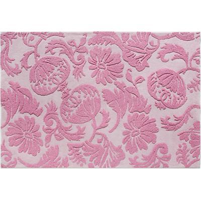 4 x 6' Raised Floral Rug (Pink)