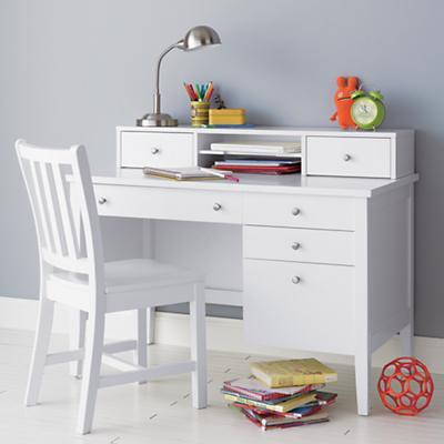 Kids White Desk Chair 550 x 550