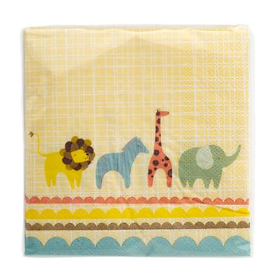 Animal Parade Party Napkins (Set of 12)
