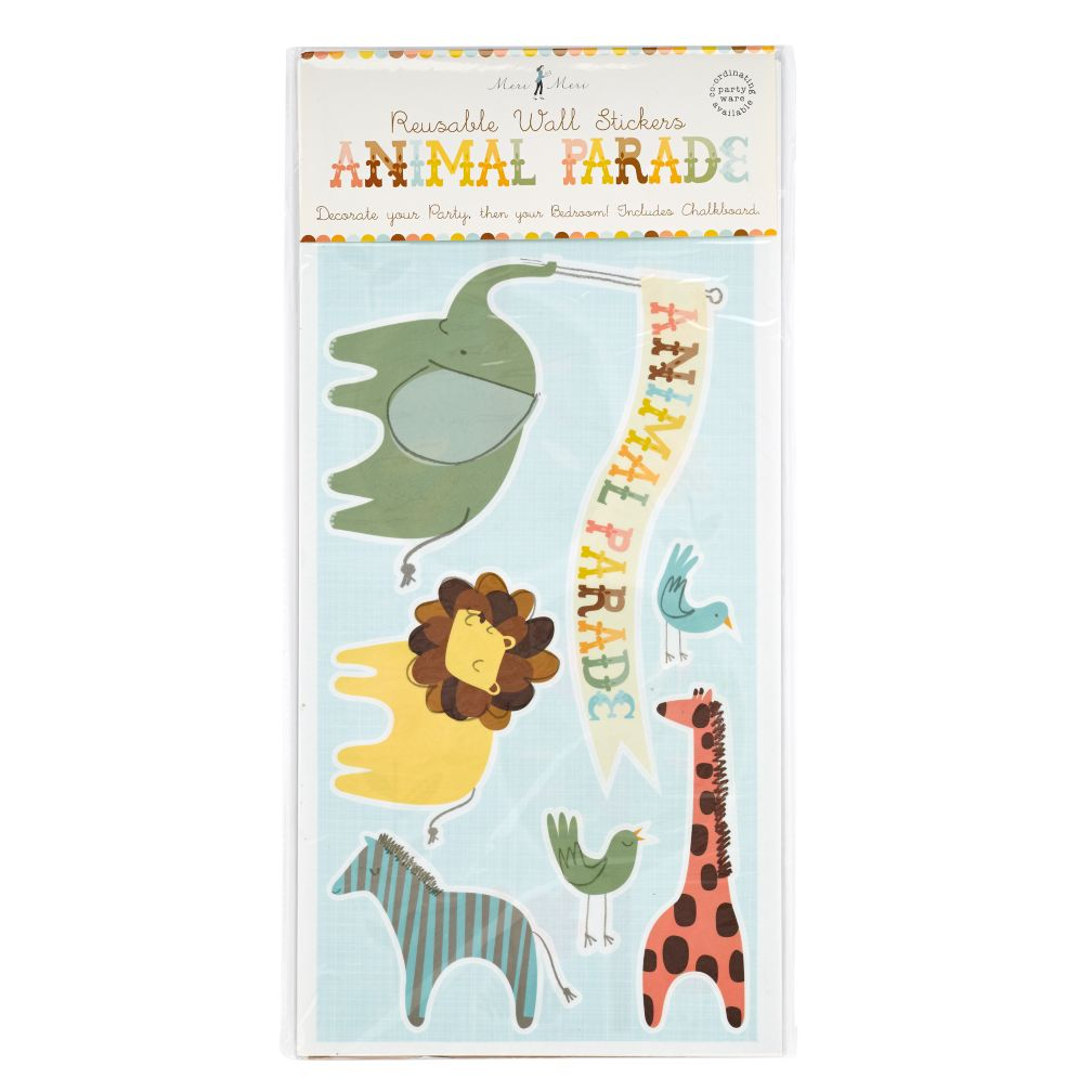 Animal Parade Wall Stickers (Set of 28)