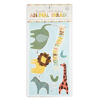 Animal Parade Party Wall Stickers
