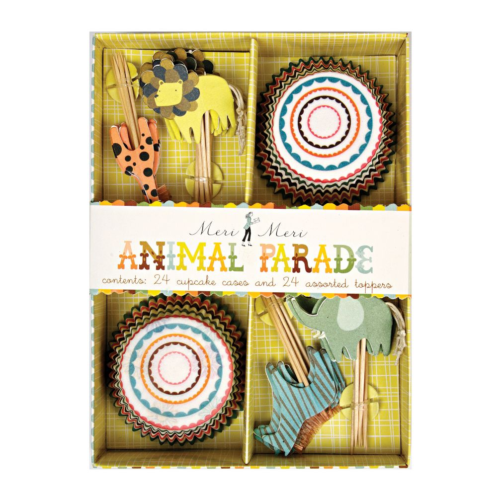 Animal Parade Cupcake Kit (Set of 24)