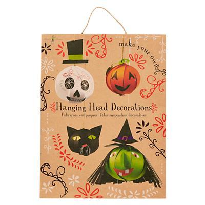 Halloween Head Decorations (Set of 4)