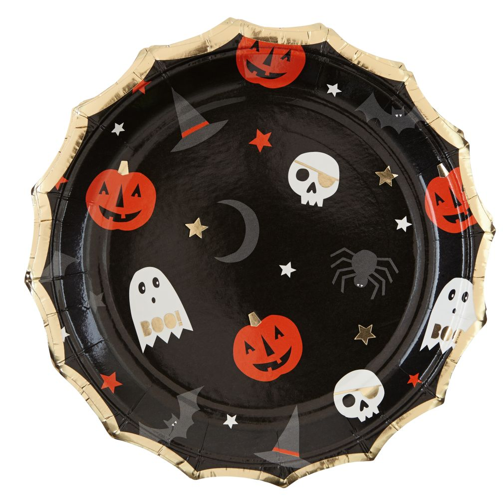 Halloween Party Plates (Set of 8)