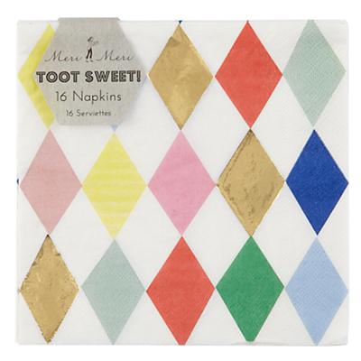 Toot Sweet Harlequin Napkins (Set of 16)