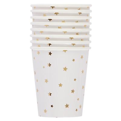 Toot Sweet Gold Star Party Cups