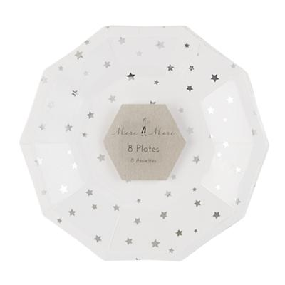 Toot Sweet Silver Star Plates (Small)