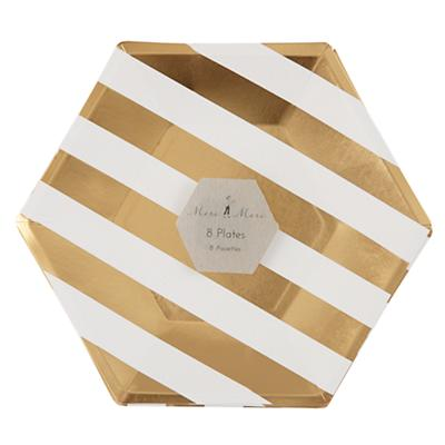 Toot Sweet Gold Stripe Plates (Large)