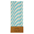 Blue Stripe Paper Party StrawsSet of 24