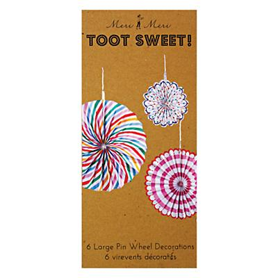 Toot Sweet Hanging Pinwheels (Set of 6)
