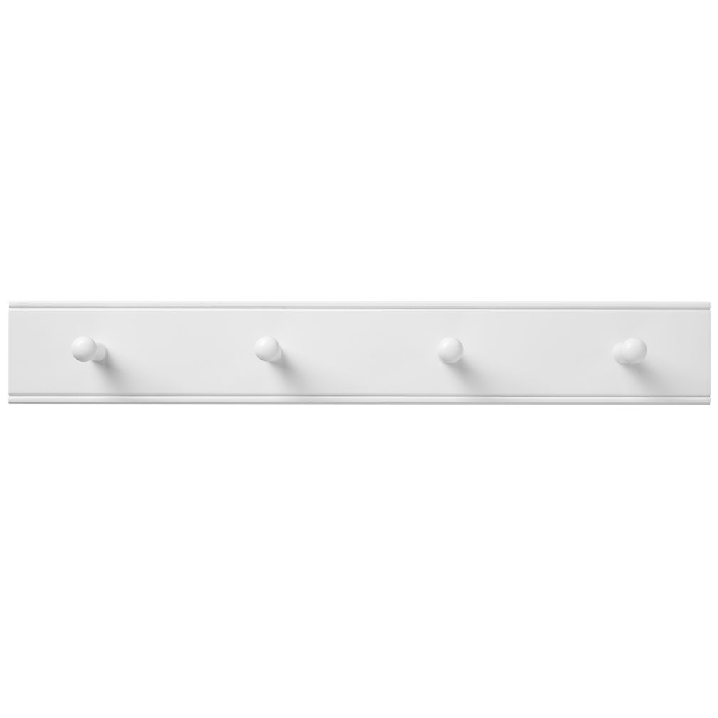 Straight and Narrow Peg Rail (White)