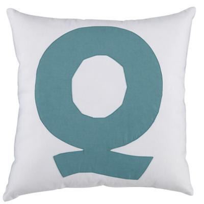 ABC Throw Pillows (Letter Q)