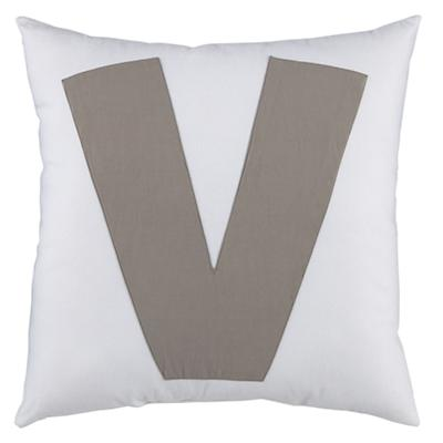 ABC Throw Pillows (Letter V)