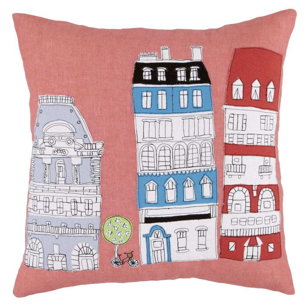 Streets of Paree Throw Pillow
