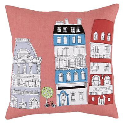 Streets of Paree Buildings Throw Pillow