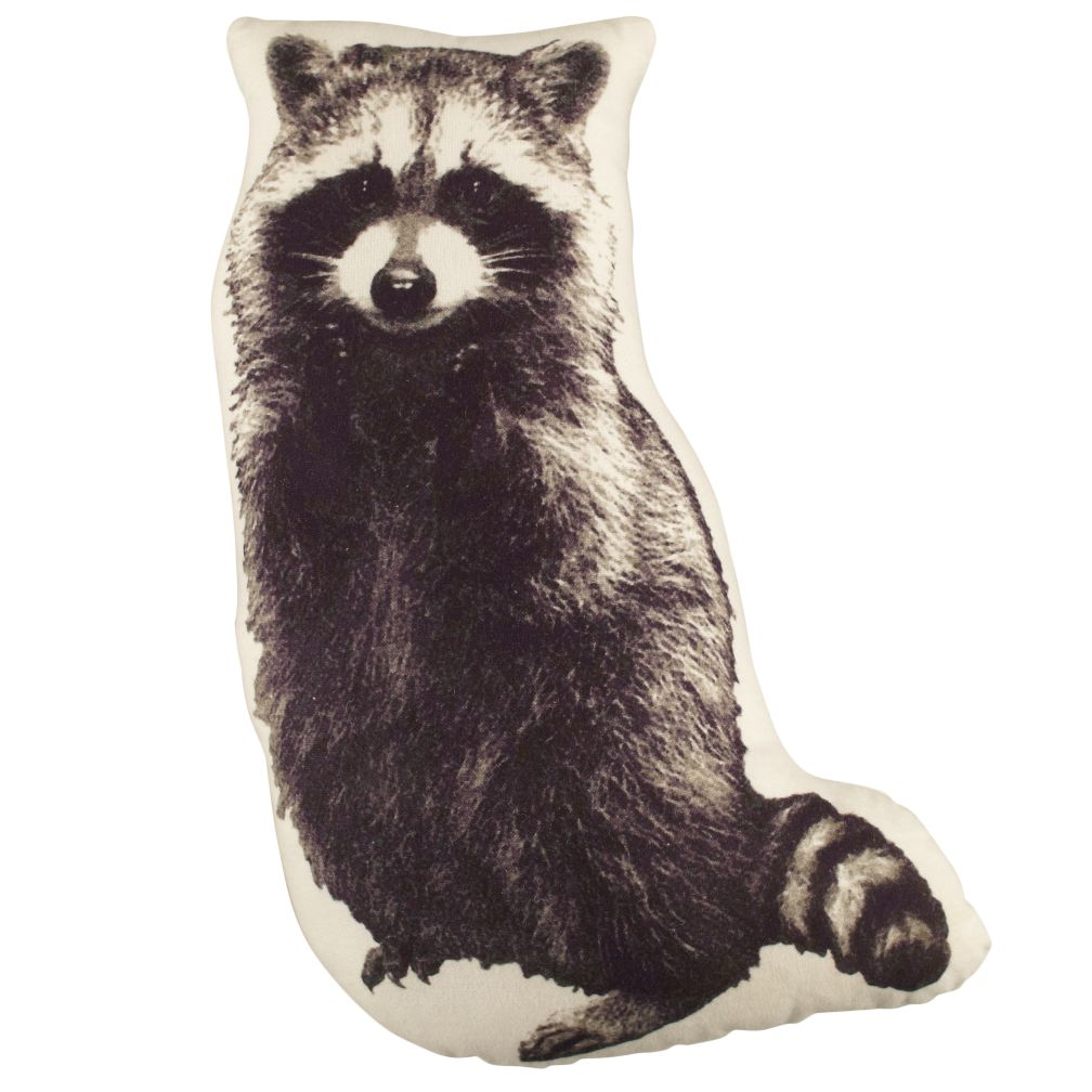 Camp Throw Pillow (Raccoon)