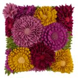 Floral Felt Throw Pillow