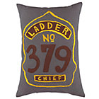 Fire Cadet Grey Badge Throw Pillow