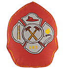 Fire Cadet Red Badge Throw Pillow