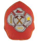 Fire Cadet Badge Throw Pillow (Red)
