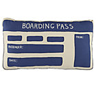 Boarding Pass Throw Pillow