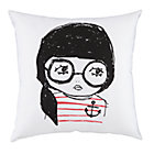 Anchor Girl Filled Throw Pillow