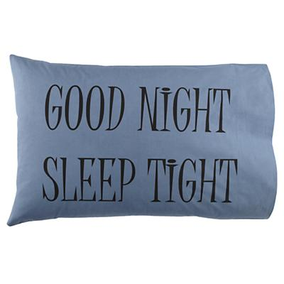 Good Night Pillowcase (Blue)