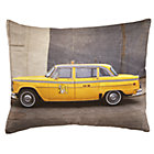 Midtown Taxi Throw Pillow(Includes Cover and Insert)