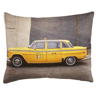 Midtown Taxi Throw Pillow