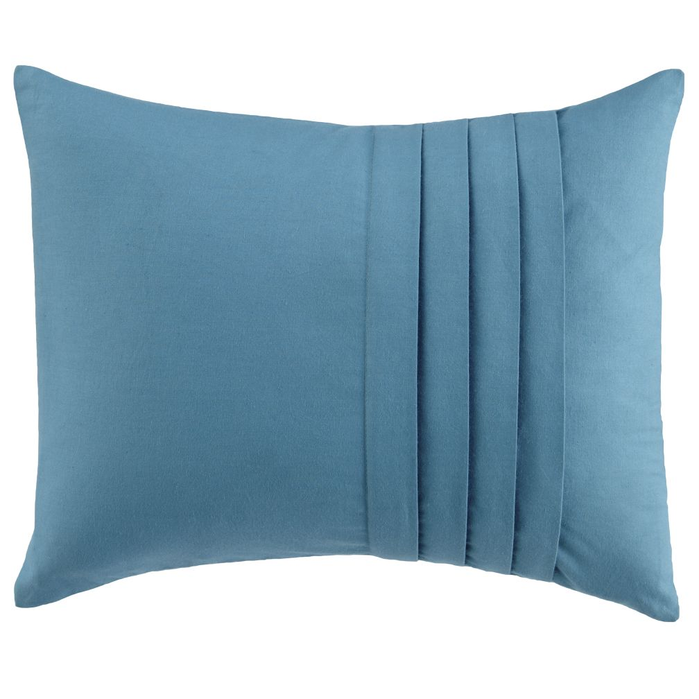 Pleated Throw Pillow (Aqua)