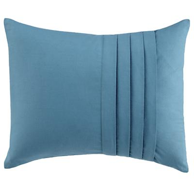 Pleated Throw Pillow (Aqua)