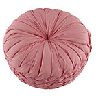Pink Ruched Throw Pillow