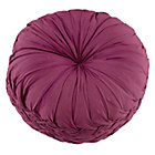 Purple Ruched Throw Pillow