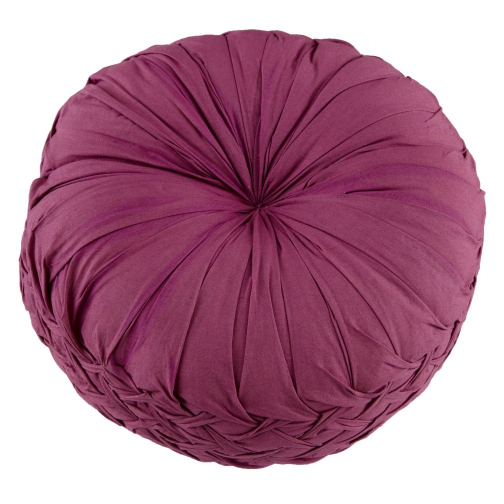 Ruched Throw Pillow (Purple)